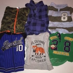 Boys size 12 pull over + hoodie bundle